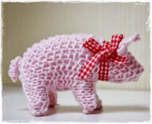 Schoenstrickende Glücksschwein Stricken