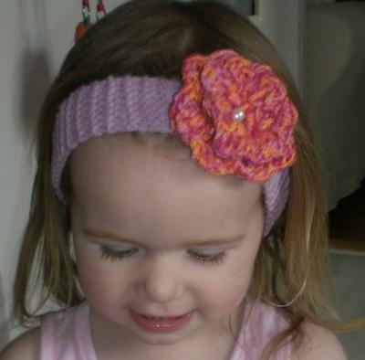 Haarband rosa mit Blume pinkie
