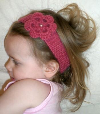 Haarband altrosa