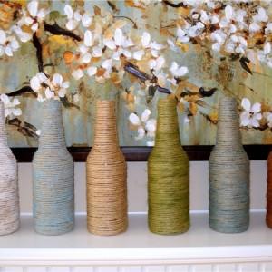 diy / Vase aus alten Flaschen