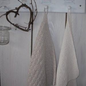 Gestrickte Baumwoll-Handtücher