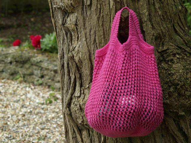 Schoenstrickende Tasche Aus Bunter Baumwolle Häkeln