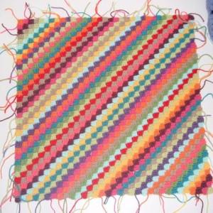 Diagonal häkeln