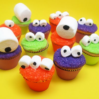 Monster Cupcakes backen