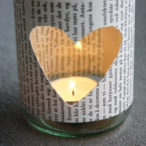 diy / Teelichthalter aus Glas und Papier