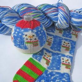 Weihnachtssocken stricken