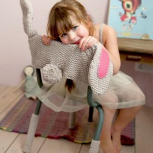 Hasenkostüm für Kinderstuhl häkeln