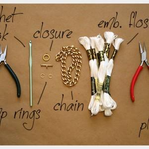 Metall-Armband umhäkeln