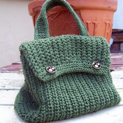 Strickanleitung grüne Tasche