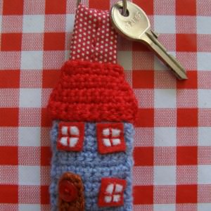 "Schlüsselanhänger ""Haus"" häkeln"