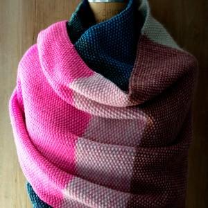 Strickanleitung für breiten Schal und Pulswärmer
