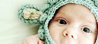Schoenstrickende Babymütze