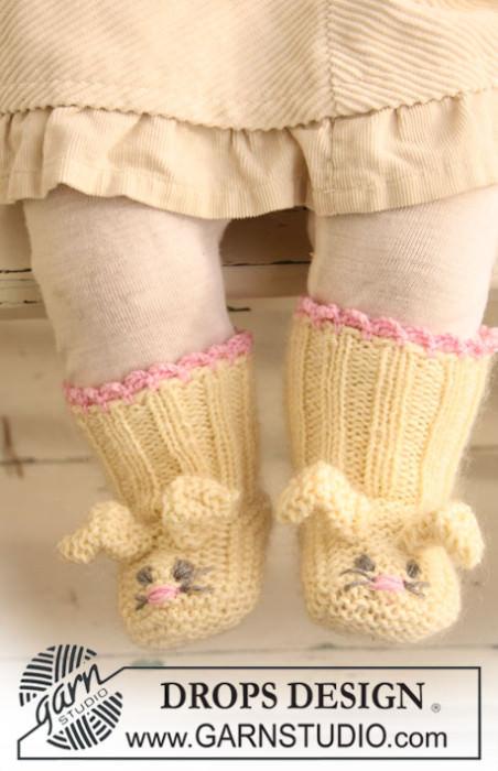 Schoenstrickende Babyschuhe Hase Stricken