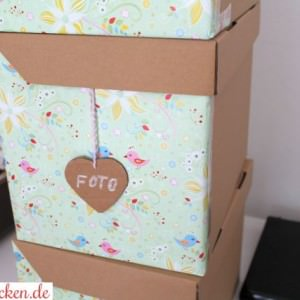 diy / Low Budget: Bunte Ordnungs-Boxen basteln