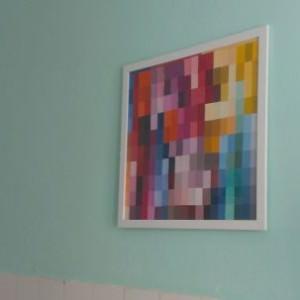 diy / Kunstwerk aus Farbkarten basteln