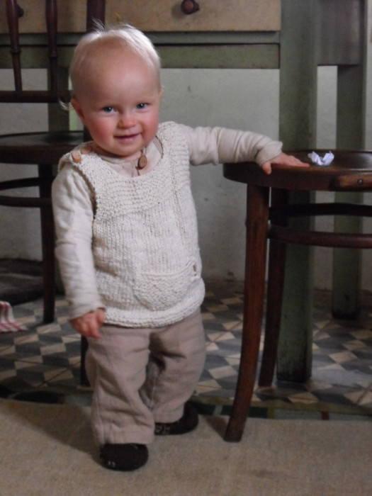 Schoenstrickende Süße Und Einfache Babyweste Stricken