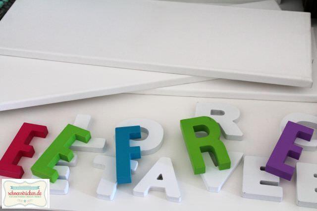 schoenstricken.de | Wanddeko mit Buchstaben basteln