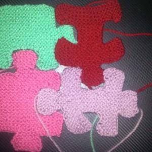 Puzzle Decke stricken