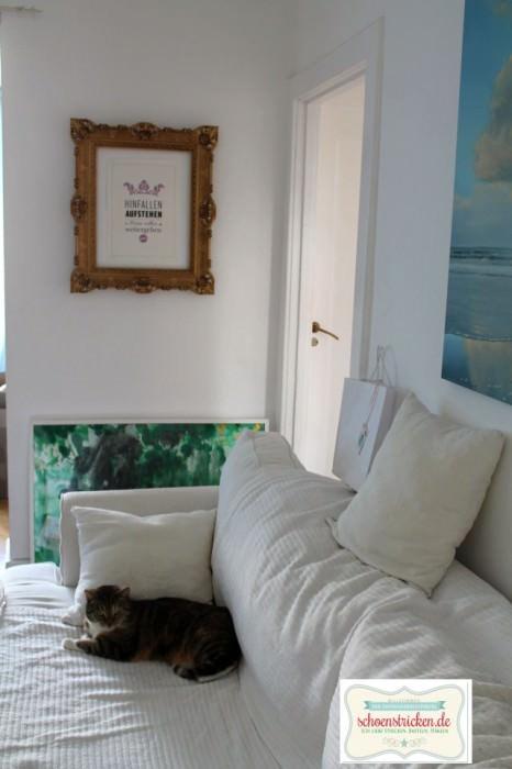 diy wanddeko mit altem bilderrahmen. Black Bedroom Furniture Sets. Home Design Ideas