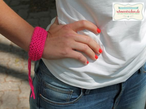 Strickanleitung Einfaches Armband stricken - schoenstricken.de