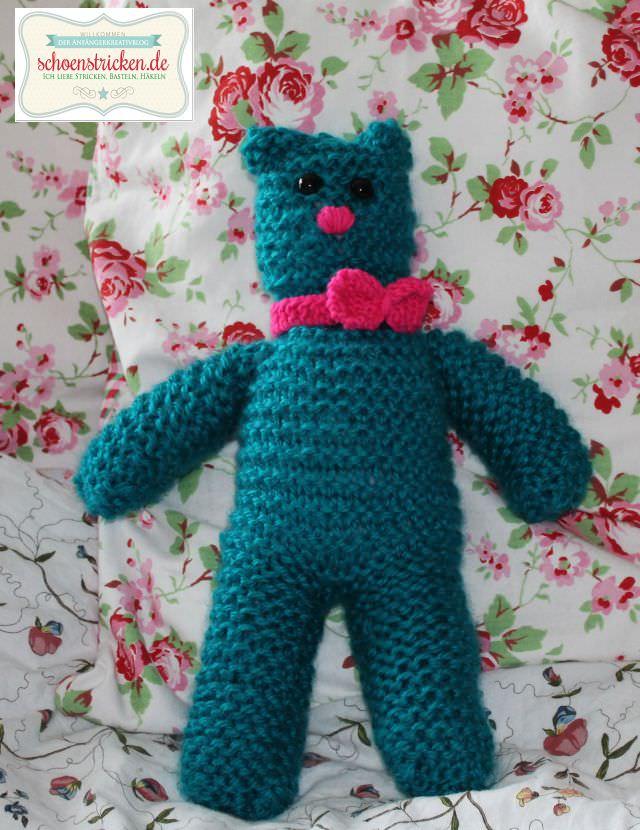 schoenstricken.de | Einfache Strickanleitung zum Teddybär stricken