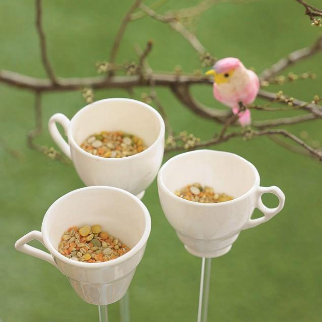 Upcycling: Teetassen als Vogelhäuschen - schoenstricken.de