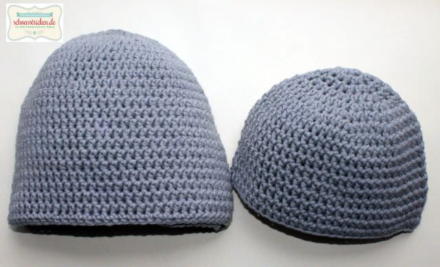 Mützen häkeln für Männer und Babys - schoenstricken.de