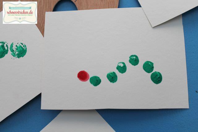 DIY Raupe Nimmersatt Geburtstagskarten basteln - schoenstricken.de
