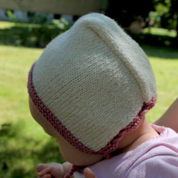 DIY Babyhaube Nostalgik - schoenstricken.de
