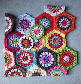 Häkeltasche aus Hexagons häkeln - schoenstricken.de