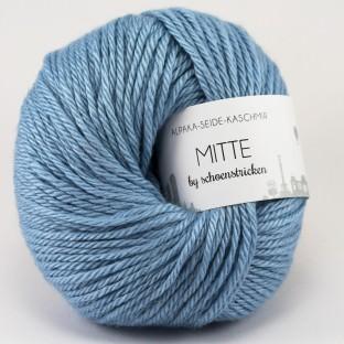 Babyalpaka Seide Kaschmirwolle MITTE by schoenstricken hellblau