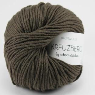 Baumwolle KREUZBERG by schoenstricken dunkelbraun