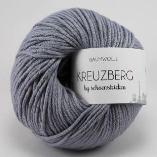 Baumwolle KREUZBERG by schoenstricken stahlgrau