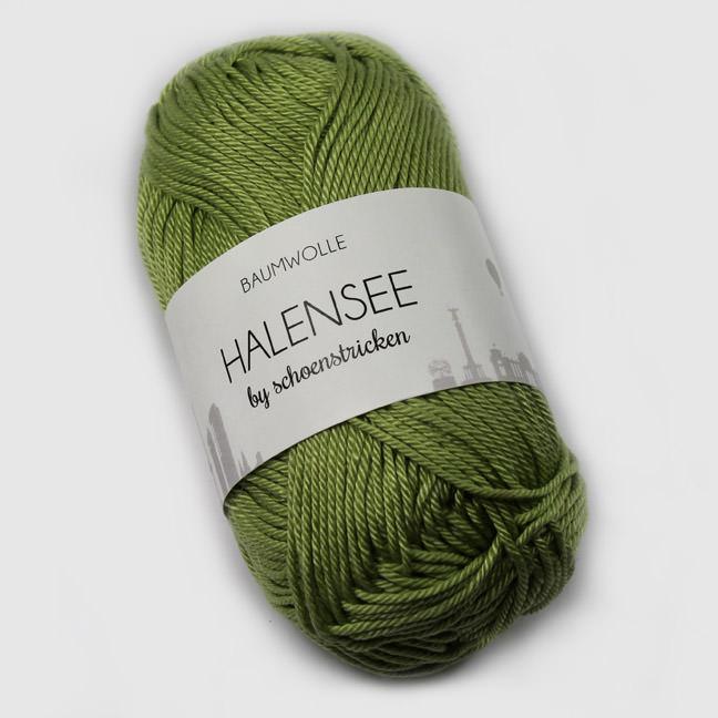 schoenstricken Wolle Halensee 116 Maigrün