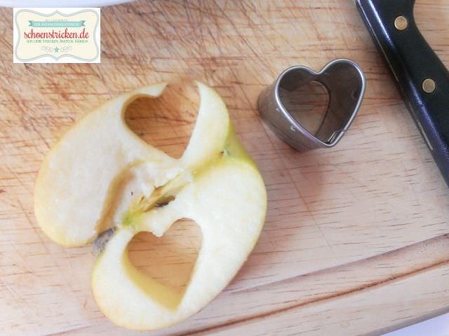 Snack zubereiten Apfel - schoenstricken.de
