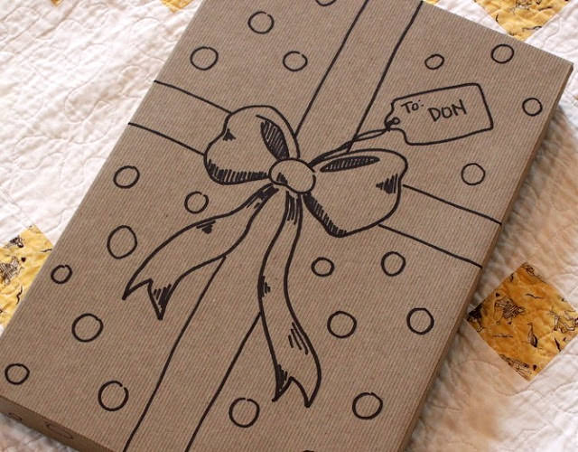 Schöne DIY Geschenkverpackungs-Idee - schoenstricken.de