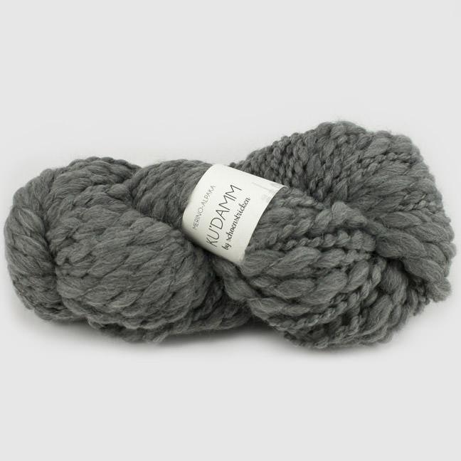 schoenstricken Wolle Kudamm Grau