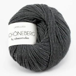 Lama Glitzerwolle Schöneberg Farbe grau- schoenstricken.de