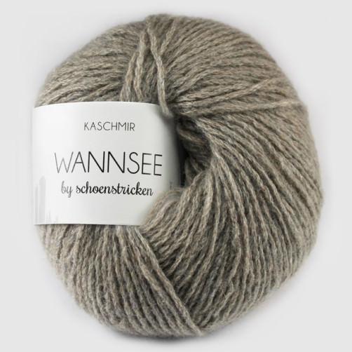 schoenstricken Kaschmirwolle Wannsee Farbe schlamm
