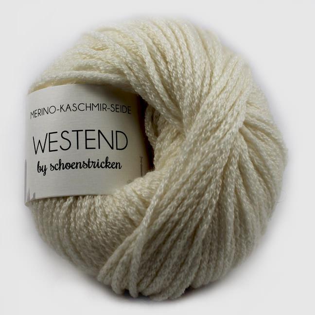 schoenstricken Wolle Westend wollweiss