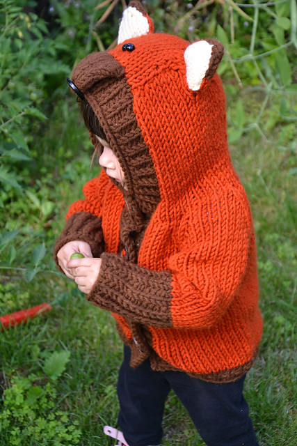 Schoenstrickende Fuchs Jacke Für Kleinkinder Stricken