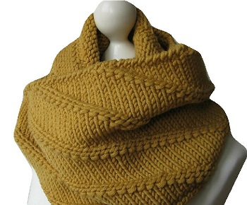 Dawanda Loop Mütze Strickanleitung Cowl Snood Hat knitting pattern - schoenstricken.de