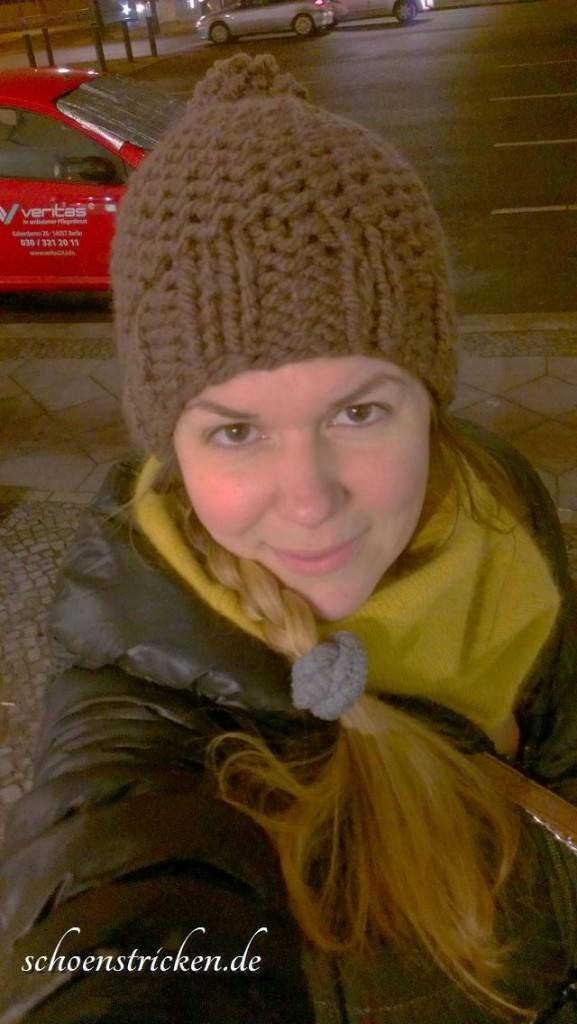 Pudelmütze mit dicker Wolle stricken - schoenstricken.de