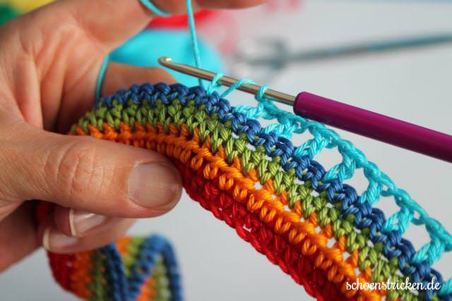 5. Reihe Babydecke Crochet Along - schoenstricken.de