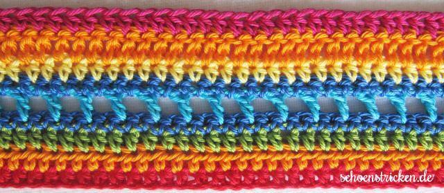 Regenbogendecke CAL - schoenstricken.de