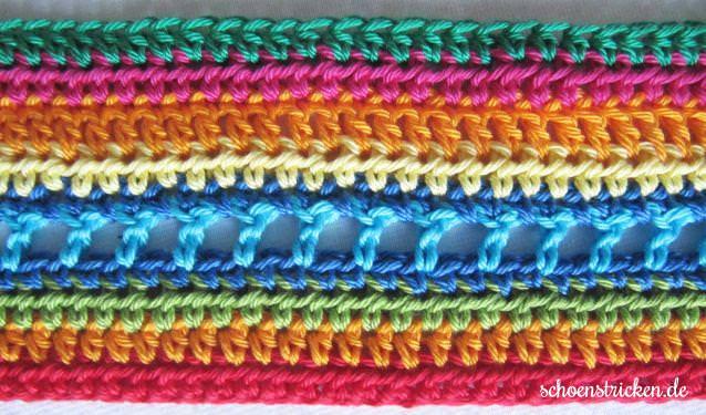 Reihe 10 Regenbogendecke Häkelanleitung - schoenstricken.de