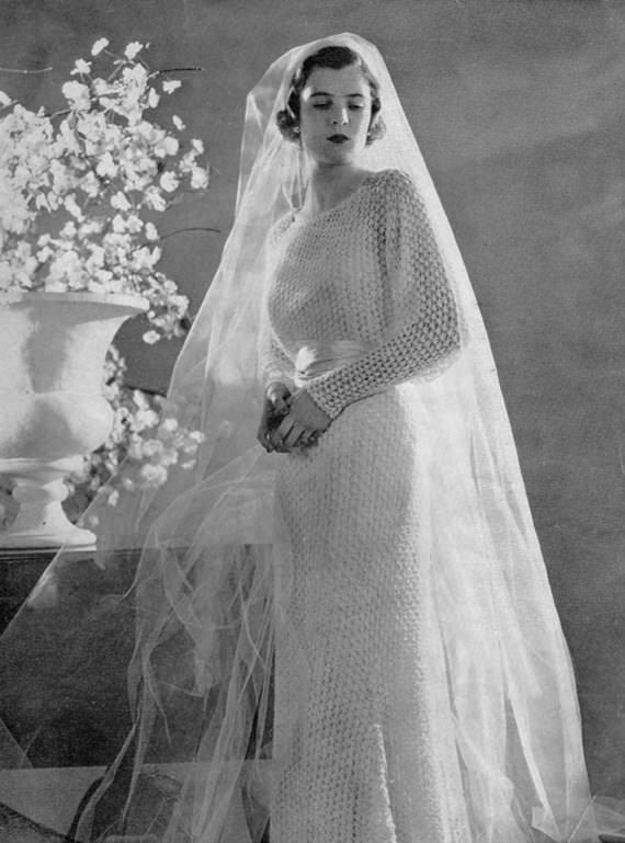 Hochzeitskleid Häkelanleitung  - schoenstricken.dentage