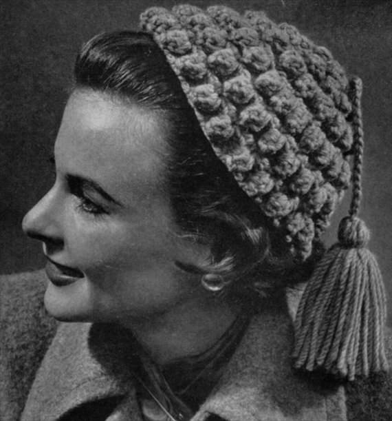 Vintage Häkelhaube Häkelanleitung - schoenstricken.de