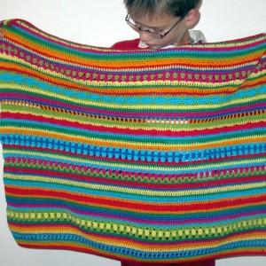 Crochet Along Regenbogen-Babydecke Teil 8