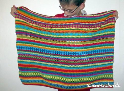 Crochet Along Babydecke EndeTeil 8  - schoenstricken.de